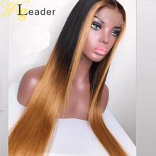 Wigleader Remy человеческие волосы 13x6 глубокий пробор волнистые кружевные передние парики prepucked 150% кружевные передние парики прямая шнуровка, пар...(Китай)