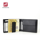 Real Man Wallet RFID Block with money clip, Small Wallets with Pocket Cards Documents, Credit Card holder