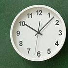 12inch 30cm plastic frame alarm clock PS face glass face many times alarming repeat automatically alarm and wall clock