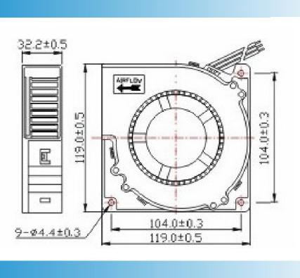 ventilator 120*120*32mm hoge 3500RPM van 12volt CPAP - de ventilator van de de luchtventilator van de kwaliteitsfabriek