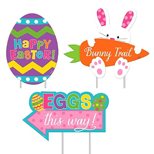 Easter Sidewalk Signs Assorted Sizes Multicolored easter decoration <strong>rabbit</strong> for party decorations