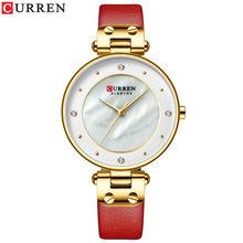 Женские кварцевые часы CURREN, из нержавеющей стали, цвета розового золота, водонепроницаемые, на каждый день(Китай)