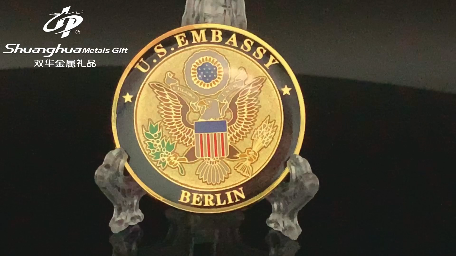 Shuanghua factory customize commemorate metal challenge souvenir coin