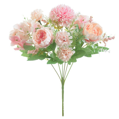 Artificial Silk <strong>Flowers</strong> Blossom Bridal Bouquet For Home Wedding Decoration