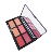 New arrival 3D card 6 color blush  palette with mirror