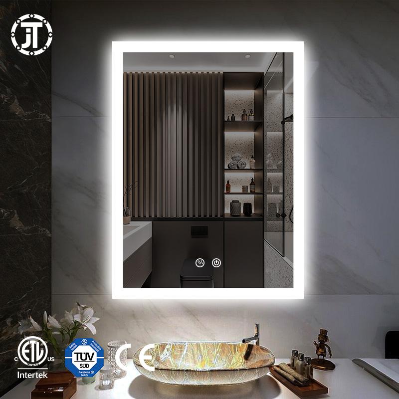 Espejo Touch Screen LED Lights Illuminated Bathroom Backlit  Mirror With Anti Fog Lighting