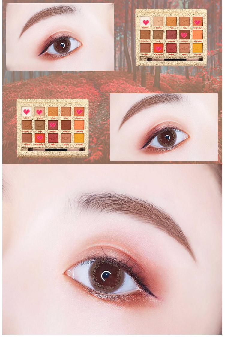 HLR Beauty glazed creations cosmetics15 colors private label eyeshadow palette makeup beauty glazed