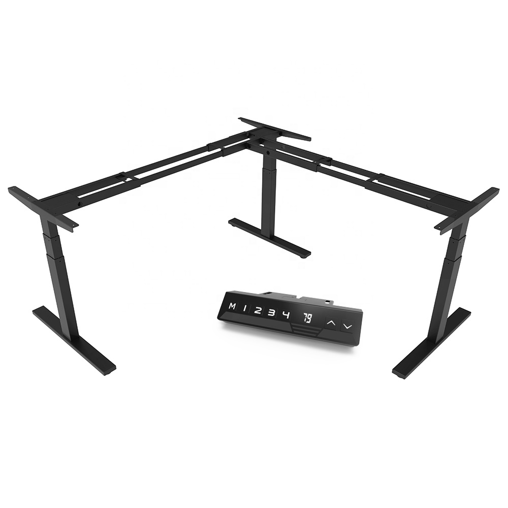 Vansdesk Height Adjustable Desk Frame Ergonomic Desktop L Shape Office Furniture Bureau <strong>Laptop</strong> <strong>Table</strong> Standing Desk <strong>Table</strong>