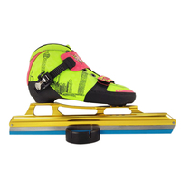 New design ice skate racing Children flat ice shoes ice skate racing shoes for kids