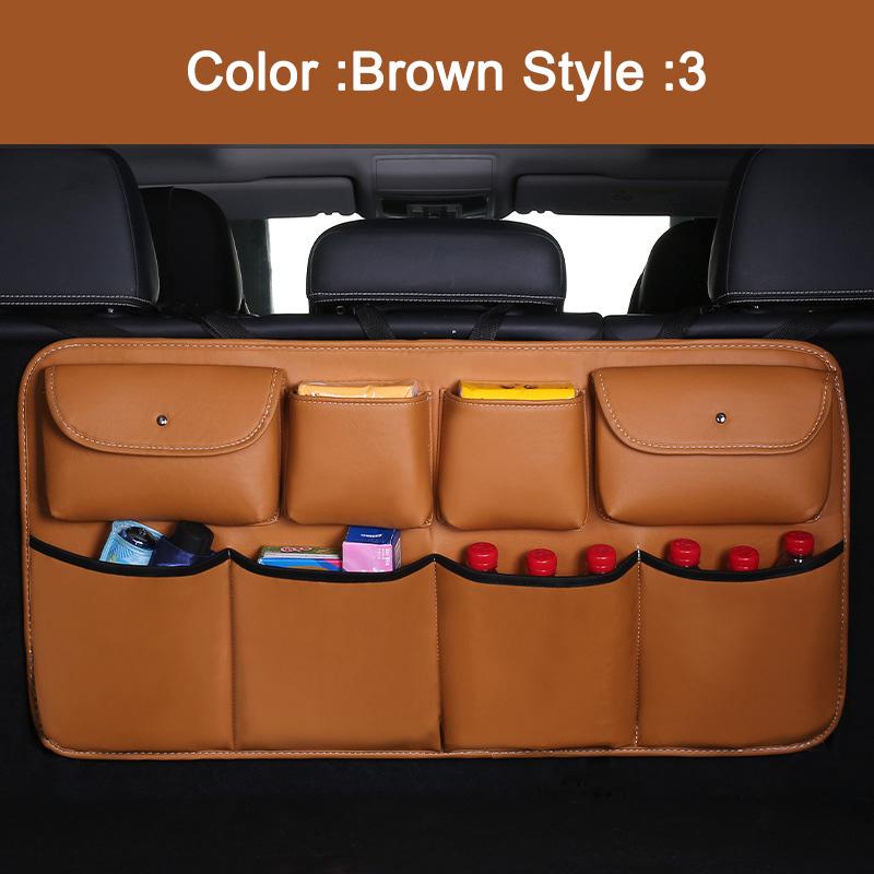 Багажник автомобиля Задняя сумка для хранения на спинку сиденья Органайзер отсек карманы аксессуары TD326(Китай)