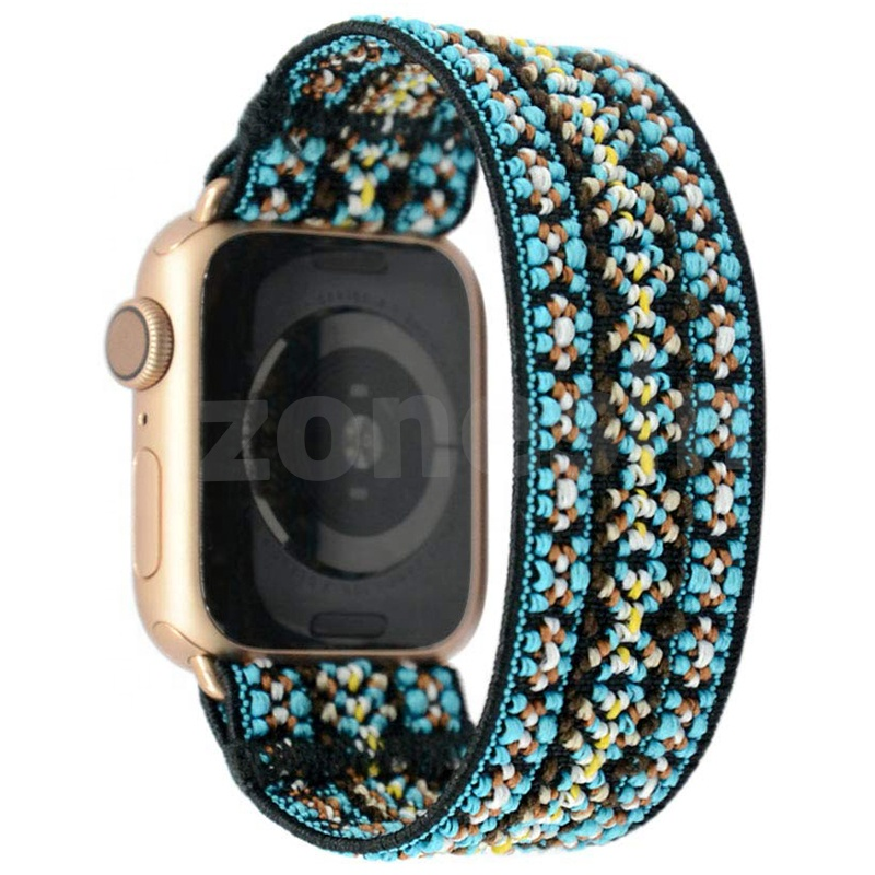 Custom Bohemian Style Quality Elastic Watch Replacement Band Strap For Apple Watches