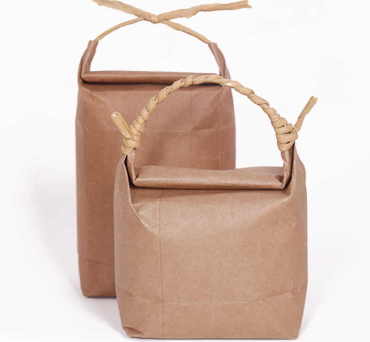100% Food Biodegradable Eco Friendly Reusable Tea Rice Grain Candy Pack Coffee Kraft Paper Bags