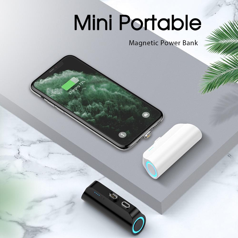 Брелок дизайн мини милый палец зарядное устройство беспроводной Банк Питания Магнитный