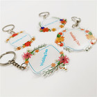 Fashion Plastic Acrylic Key chain Personalized Custom Printed Clear Keychain for Wedding Gift