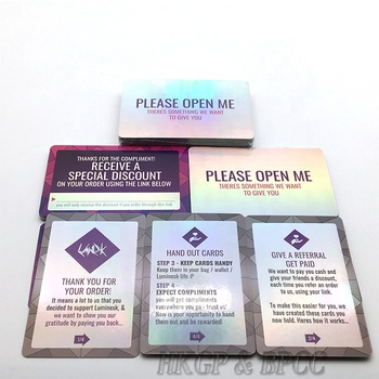 Custom Printed Paper Material Holographic Trading Cards