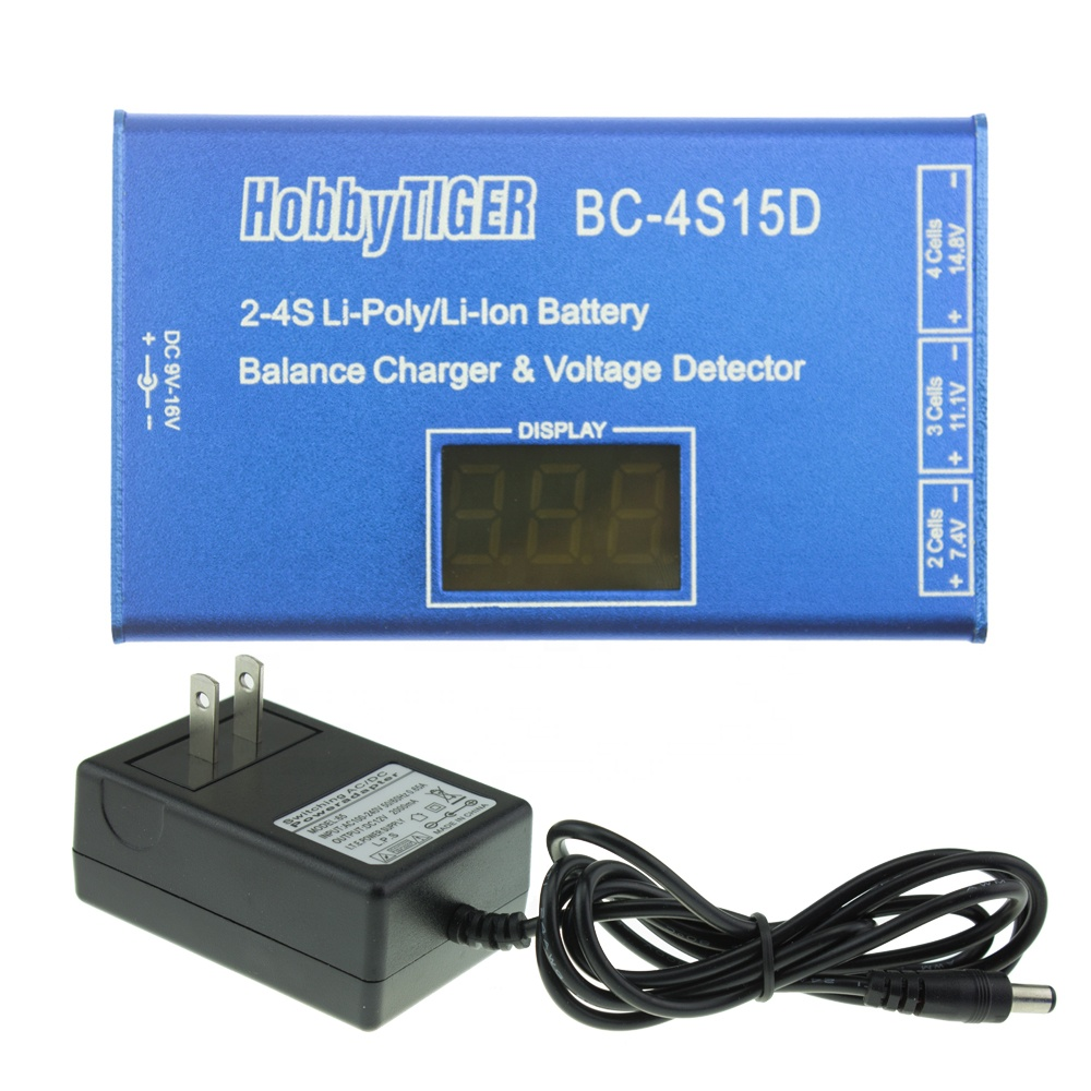 2-4S BC-4S15D Lithium Lipo Batteries Balance Charger With Voltage Detector LCD Digital Display For RC Toys Battery