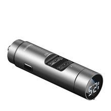 Baseus FM передатчик Bluetooth 5,0 беспроводной громкой связи автомобильный аудио приемник авто MP3 плеер двойной USB быстрое зарядное устройство автом...(Китай)