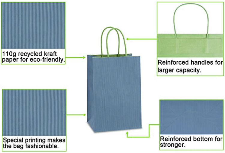 product-Elegant blank custom made special blue paper wigs packaging paper bags with your logo-Dezhen-1