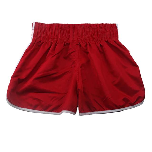 Boxing Pants Trunks Shorts Kids Children FORCE Muay Thai Kick Boxing RedBlack