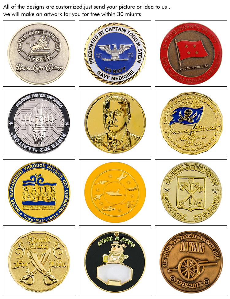 Manufacturer custom metal brass commemorative ancient brass coin