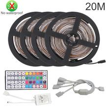 Bluetooth Светодиодная лента RGB светодиодный светильник SMD 2835 DC12V водонепроницаемый светодиодный светильник 5 м 10 м Диодная лента Гибкая с пульто...(Китай)
