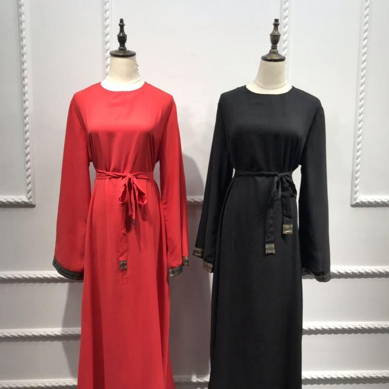 2020 latest style vintage EID collection modest maxi dress women jalabya in dubai new model abaya daywear