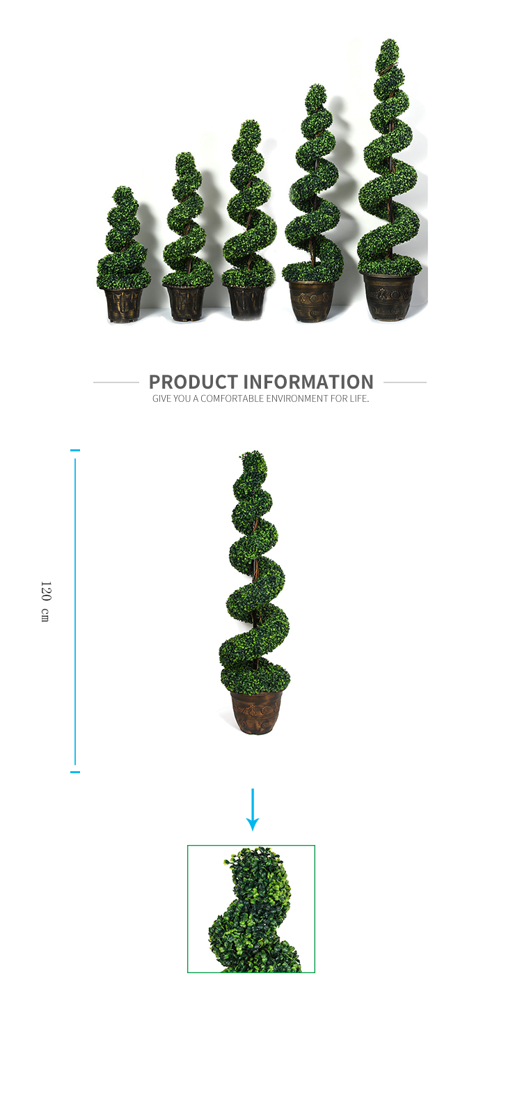 Wholesale Artificial Boxwood Spiral Topiary Grass Tree Bonsai Artificial Plants Tree For Home Indoor Decoration Buy Plastic Artificial Potted Plant High Quality Artificial Topiary Tree Artificial Plants Home Decoration Product On Alibaba Com