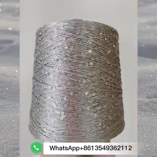 中国アリババサプライヤーファンシー糸 3 ミリメートルビーズlacerスパンコール糸