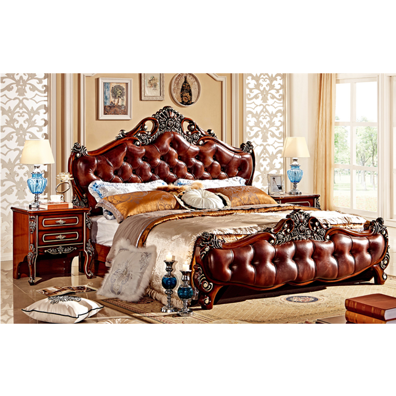 Luxury royal queen size bed room furniture bedroom set in Dubai