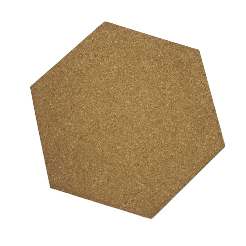 Eco-friendly Economic Hexagon 10 Pack Self Adhesive Cork Board Tiles with Pins