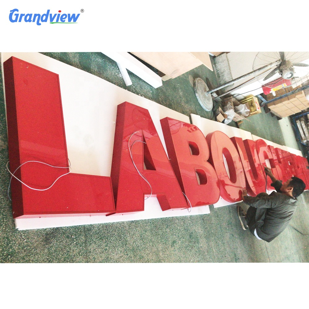 Outdoor business 3D electric letter signs advertising Led light up letter signboard