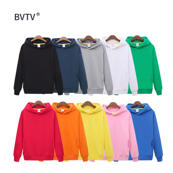Wholesale Custom Logo Mens Black Fashion Long Sleeve Blank Pullover Cotton Hoodie