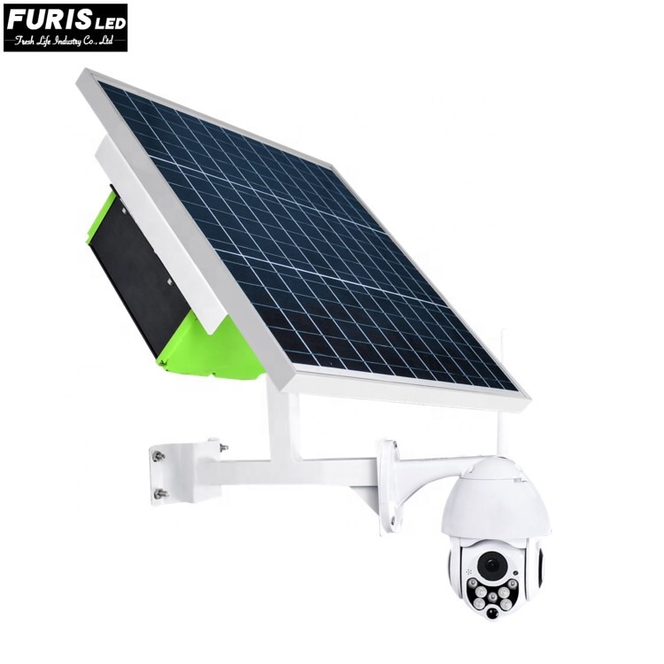Furis LED anti-thief waterproof indoor and outdoor use 3G 4G wifi app hotspot solar CCTV Camera solar monitoring camera