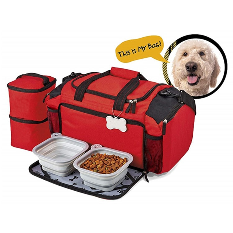 Osgoodway Wholesale Manufacturer Weekend Dog Travel Bag Tote Organizer Bag for Pets Travel Food Bag