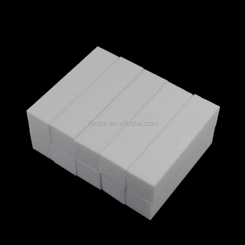 Professional High Quality White Buffer Block 4 Way Nail Buffer Manicure Pedicure White Nail Buffer