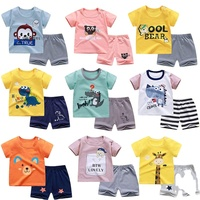 2pcs Baby Boy Summer Clothing Set Infant Clothes Suit Newborn Girl Short Sleeve top+Shorts Toddler Homewear Baby Outfits