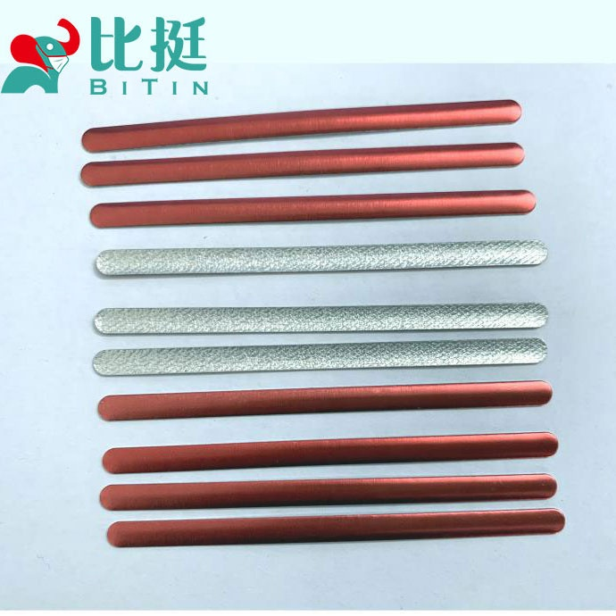 Customizable colors Aluminum metal strips for face mask factory direct sale custom metal nose bridge for mask