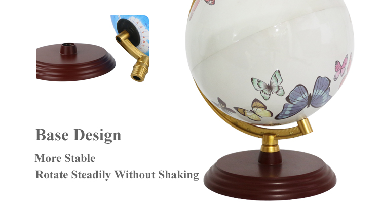 Specialize in manufacturing 20cm Rechargeable With Lamp Globe With Plastic Injection Base