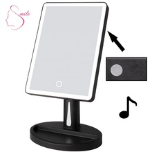 Led Make-Up Draadloze Bluetooth Speaker Smart Vanity Decoratieve <span class=keywords><strong>Spiegel</strong></span> Met Verlichting Voor Make Up