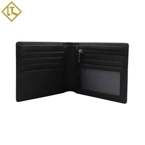 wholesale RFID Blocking Credit Card holder with zipper Coin Pocket leather Men's Wallet