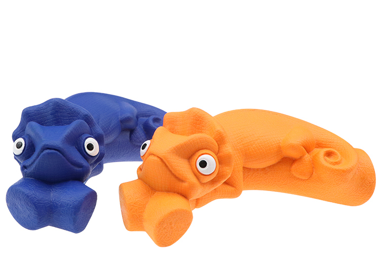 Chameleon Shaped Dog Chew Toy Dog Rubber Chew Toy Teeth Dog Toy OEM