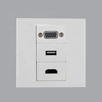 China Manufacturer Cheap Price VGA USB HDMI 86x86 Type Wall Face Plate