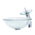 Modern Clear Tempered Glass Round Bathroom CounterTop Vessel Sink Basin