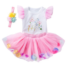 1st Birthday Girl Outfit Newborn Baby tollder flower tutu dress set baby birthday outfit set
