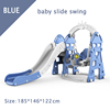 Blue baby slide swing