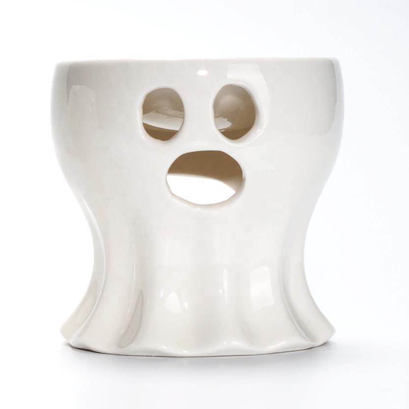 Halloween Esqueleto Fantasma Fantasma Ocas de Cerâmica Suporte de Vela Queimador de Incenso do Dia Das Bruxas