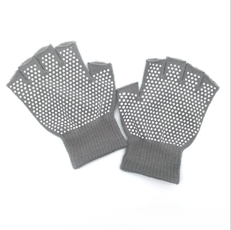 Good quality Acrylic Knitted PVC dots fashion funky warm winter Magic Gloves with no finger
