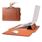13.3 Inch PU Leather Laptop Sleeve Bags with Stand Function for MacBook Air&Pro for Travel&Work&School