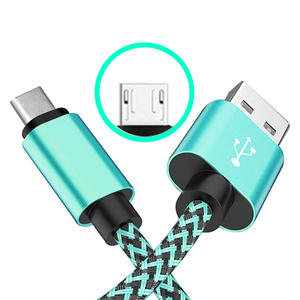 Micro USB Cable (3/3/6/6/10FT) Nylon Braided Fast Charging Cable Aluminum Housing USB Charger Android Cable