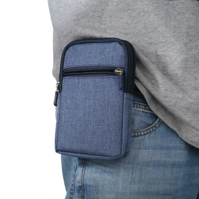 Universal zippered <strong>phone</strong> protection bag polyester <strong>cell</strong> <strong>phone</strong> <strong>pocket</strong> for iPhone 11